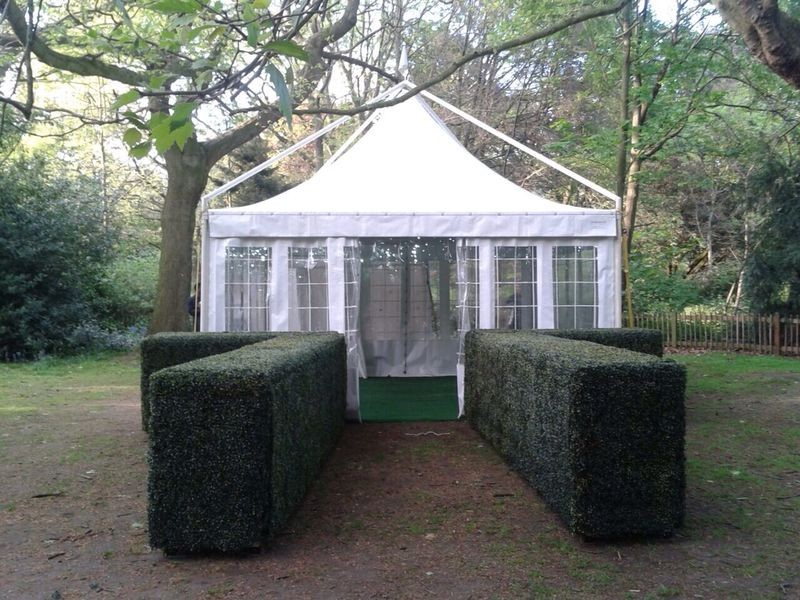 marquee hire with hedges Richmond.JPG