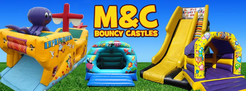 M&C Bouncy Castle Hire Logo