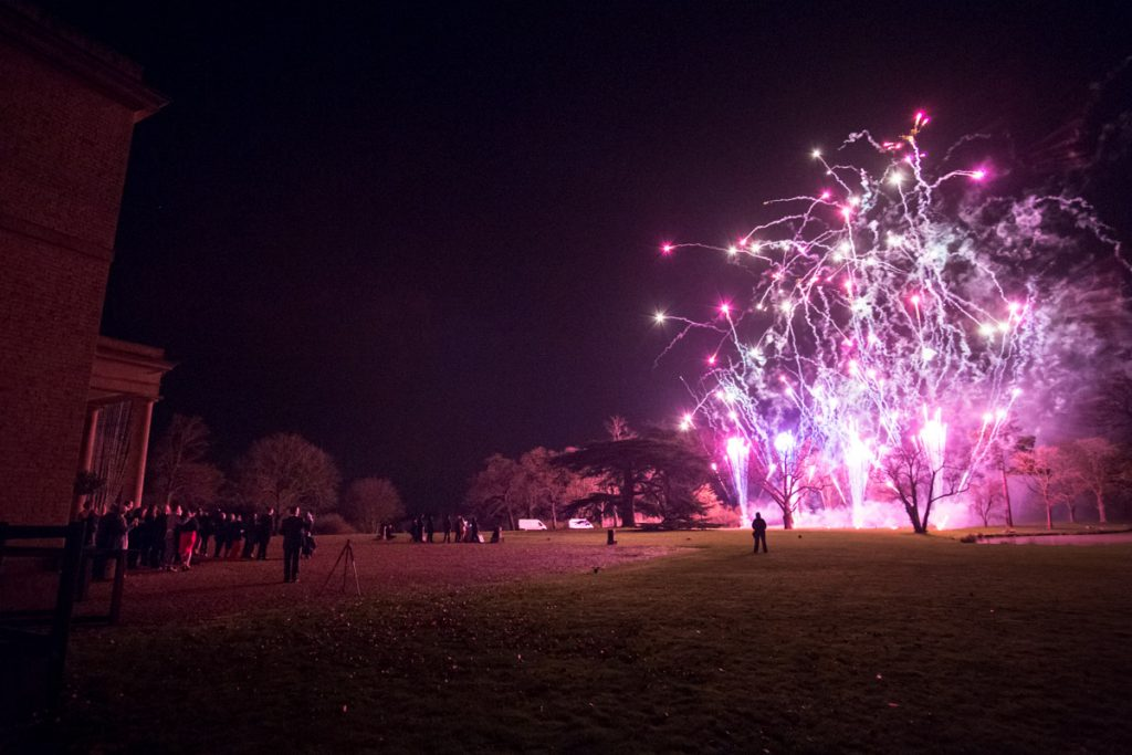 Professional wedding firework displays