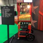 Branded Popcorn Cart and Ready Made Popcorn Hire Exhibition London Excel