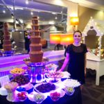 Chocolate fountain hire corporate event