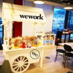We Work Office Party Sweet Cart  Candy Hire London Branded